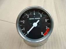 Rev counter, (Tacho)head, magnetic, black face,